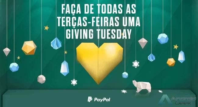 PayPal ultrapassou os 100 milhões de dólares em doações na Giving Tuesday 1