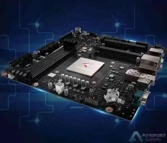 A Huawei tem uma motherboard de desktop equipada com o processador Kungpeng 920 1