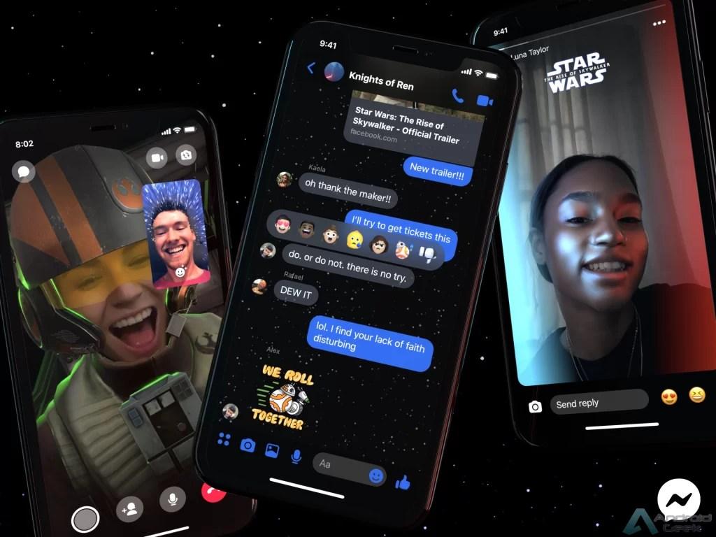 Facebook Messenger adiciona novo tema escuro da Guerra nas Estrelas 1