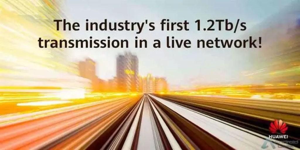 Huawei e BT Irlanda concluem a primeira transmissão de dados em tempo real de 1,2 TB / s 1