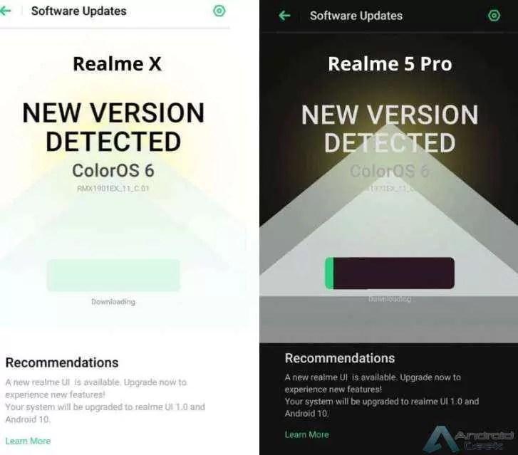 Realme X, Realme 5 Pro começam a receber Android 10 e Realme UI
