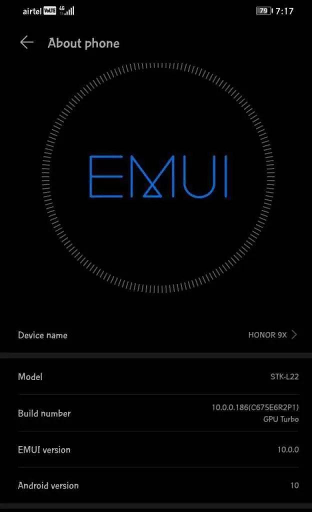 Honor 9X (versão global) começa a receber atualização da EMUI 10 2