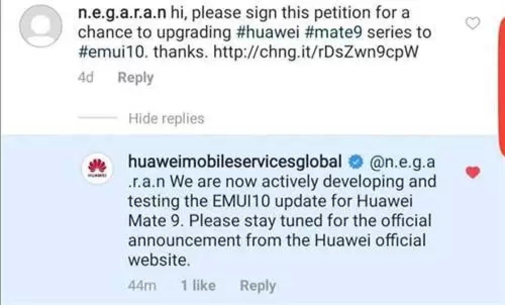 EMUI 10 para Huawei Mate 9 em fase de desenvolvimento, confirma Huawei 1