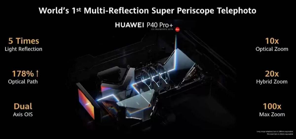 Zoom do periscópio Huawei 10x