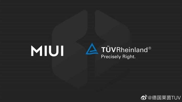 MIUI TUV Rheinland