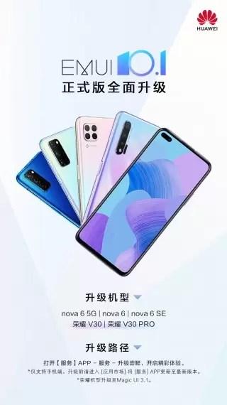 Versão final da EMUI 10.1 chega a vários dispositivos Huawei 2