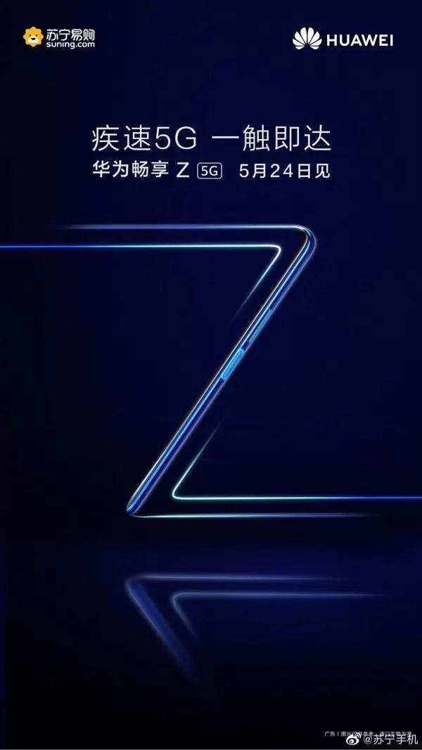Lançamento do Huawei Enjoy Z em 24 de maio