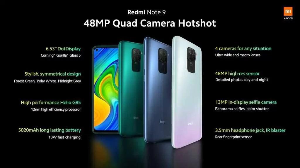 Redmi Note 9 estreia-se com Helio P85, quad-cameras e bateria de 5.020mAh 1