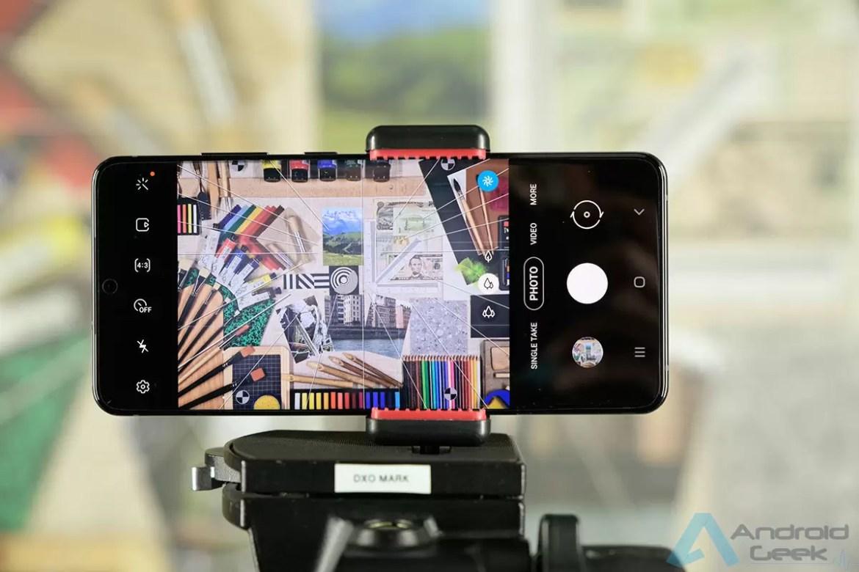 Aplicação de câmara Galaxy S20 Ultra Credits DxOmark