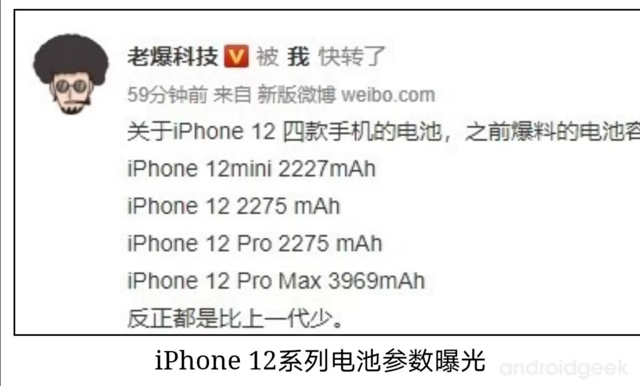 IPhone 12 RAM, bateria e benchmark AntuTu 2