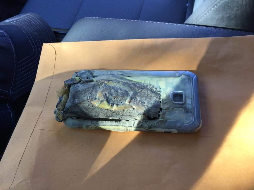 Mais um Samsung que ardeu , desta vez um S6 Active num hospital 1
