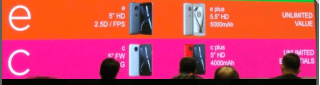 Nova gama da Motorola revelada na sua totalidade (super leak) Z,X,G ,E e C são os novos modelos 2
