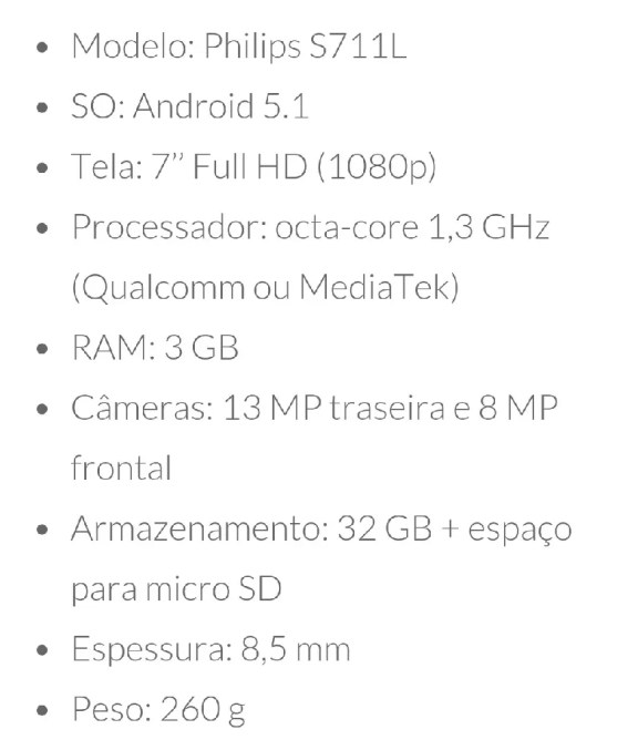 Philips lança Tablet/Smartphone com bateria épica 3