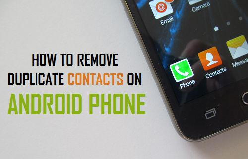 How to merge or delete duplicate contacts > Android