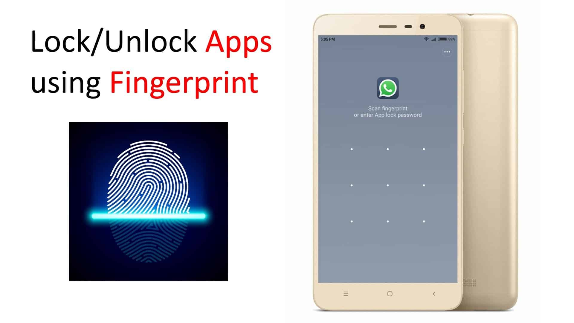 How To Lock Apps Using Fingerprint Scanner on Redmi Note 5