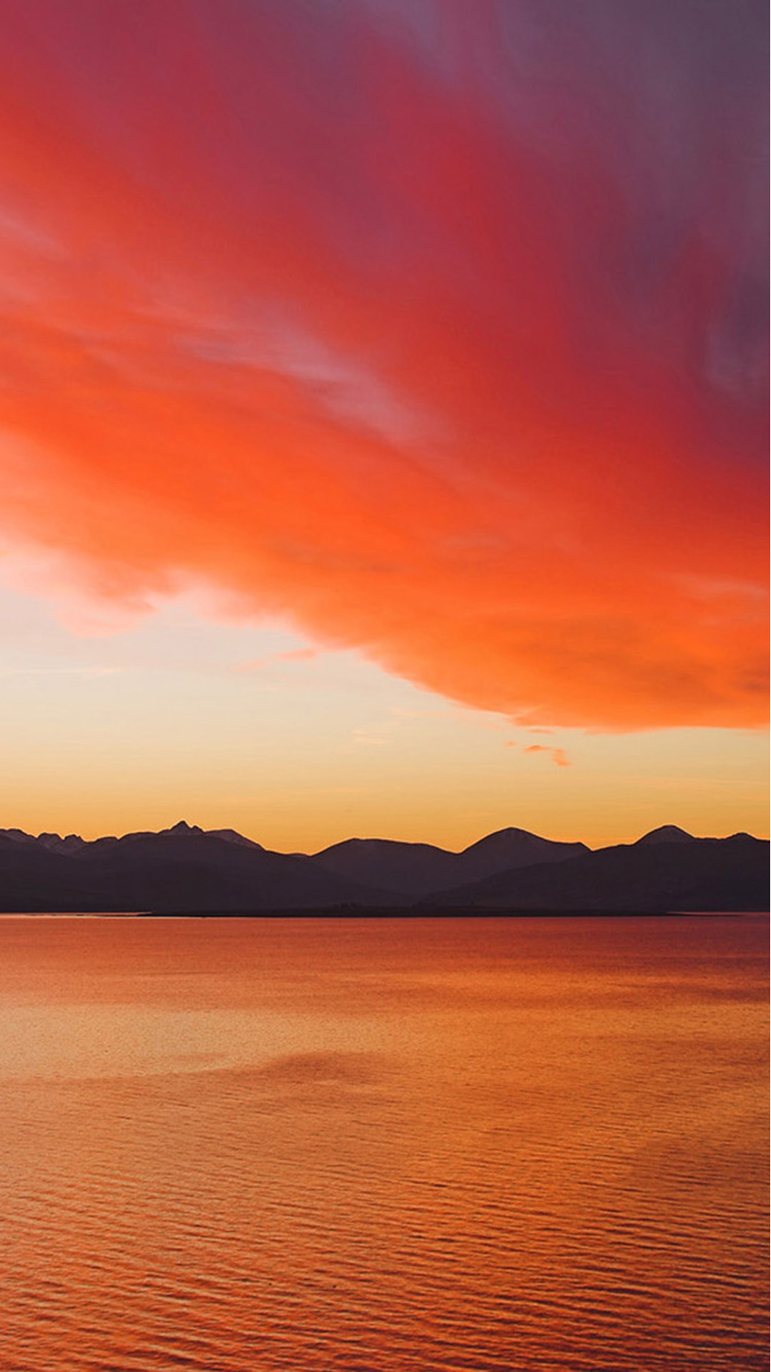 sunset over the cuillin mountains on the isle of skye from kyle of
