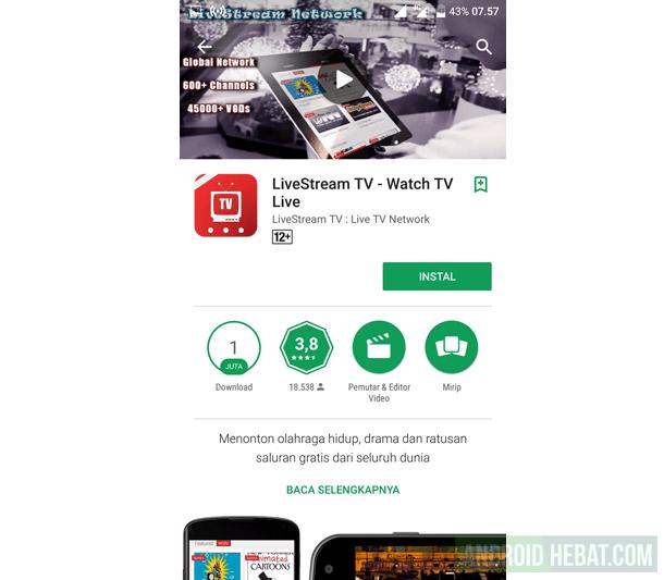 Aplikasi TV Online untuk Android