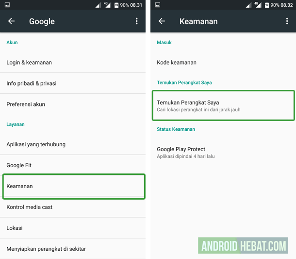 tips aman android