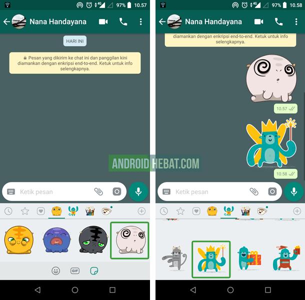 cara mengirimkan stiker di whatsapp terbaru