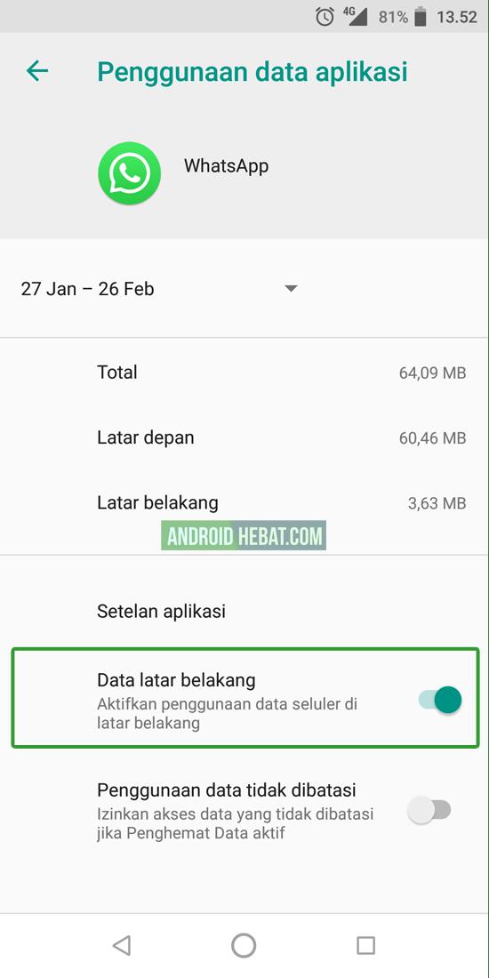 whatsapp lambat terima pesan