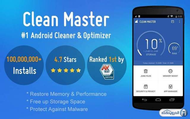 Clean Master app download speed and Saver phone