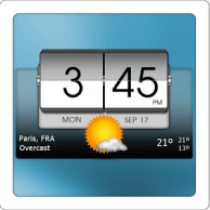 Download 3D Flip Clock & Weather Weather v3.00.03 Weather Widget for Android