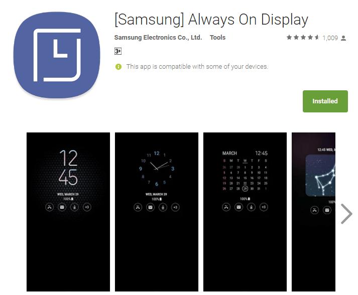 Samsung Galaxy S8's Always On Display arrives as an app on