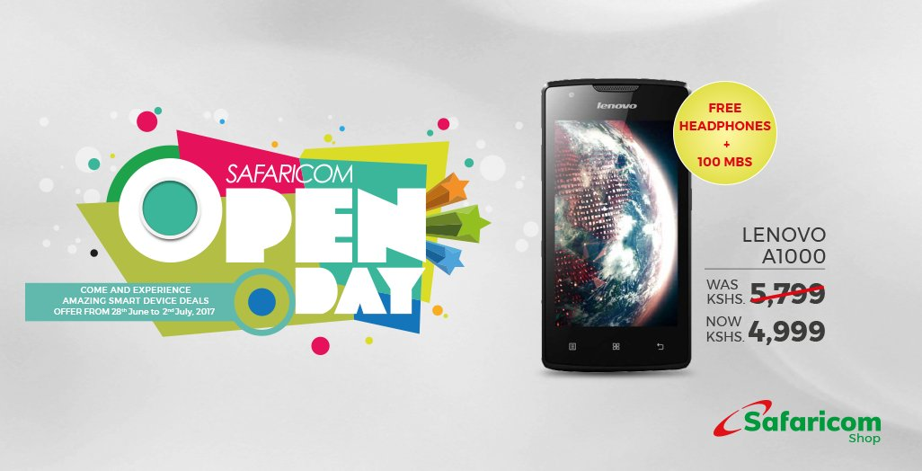 Lenovo A1000 Safaricom Open Day July 2017