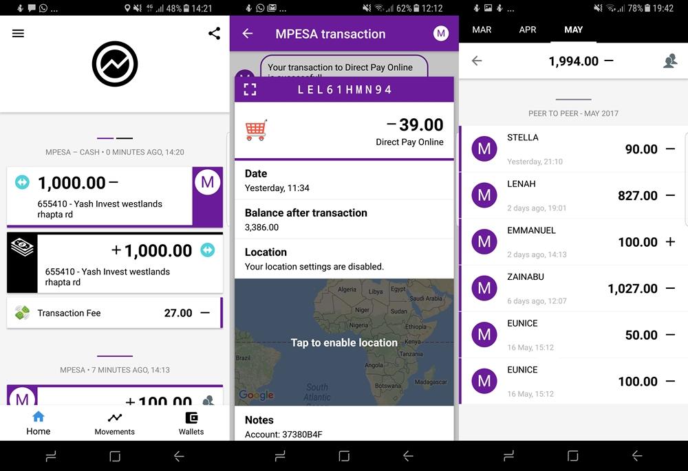 Overview finance app