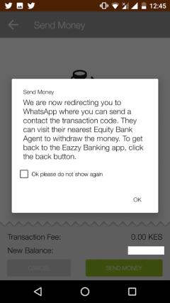 WhatsApp, Eazzy Banking