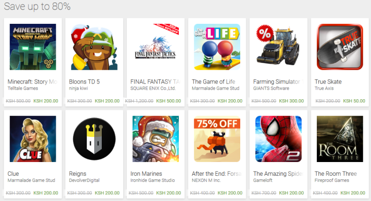 Google Play Store discounts