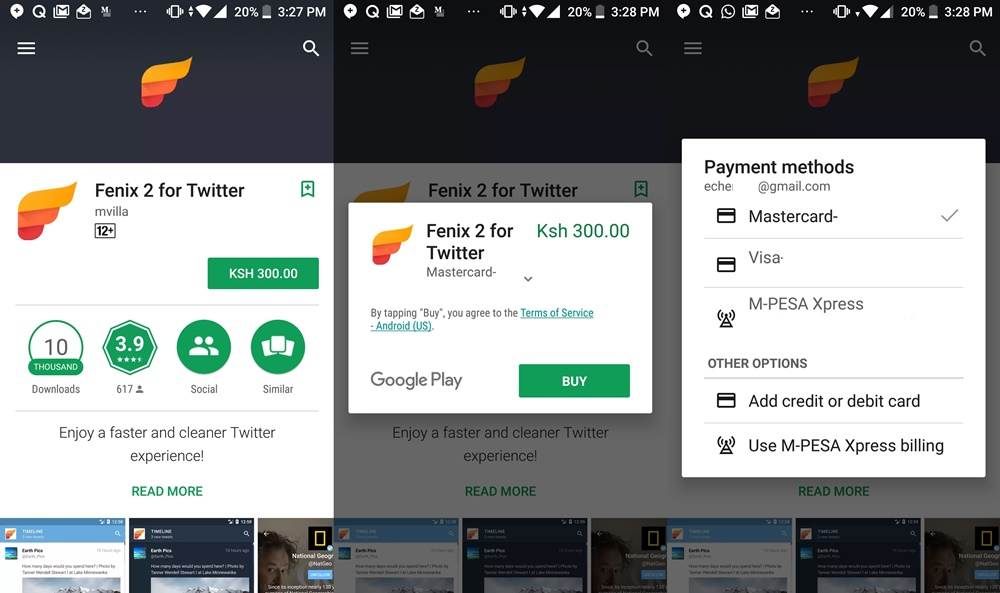 Kenyans can now pay for apps on the Play Store using M-Pesa