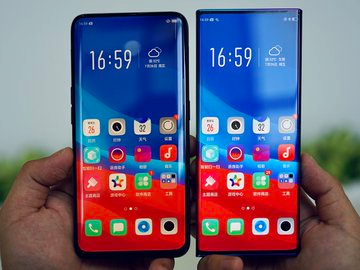 Oppo Find X vs Oppo Waterfall Screen