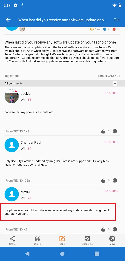 Tecno Mobile ranks last in software updates & it couldn't be