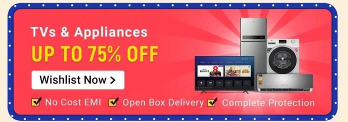 Flipkart TVs Big Shopping Days