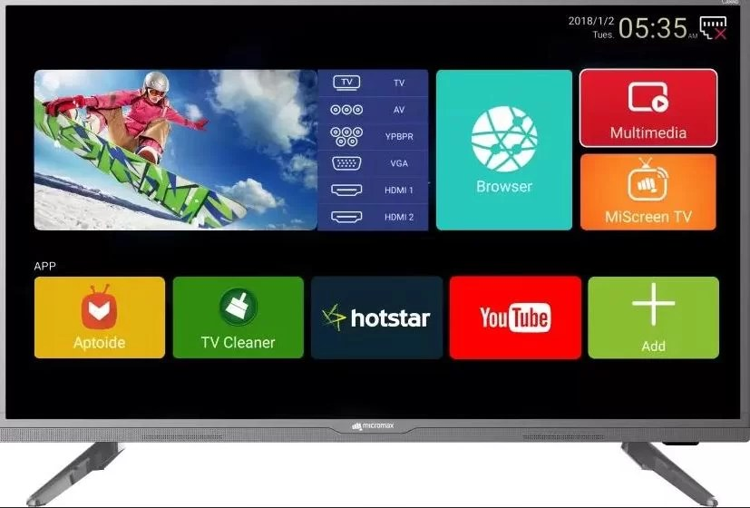 Micromax Canvas 81cm (32 inch) HD Ready LED Smart TV 2018 Edition Best Tv Under 10,000