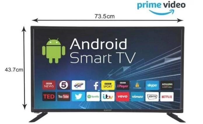 eAirtec 81 cm (32 inches) HD Ready Smart LED TV 32DJSM best tv under 10000