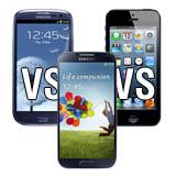 Vergleich: Galaxy S4 vs Galaxy S3 vs iPhone
