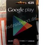Google Play-Geschenkkarten ab sofort im deutschen Einzelhandel erhältlich
