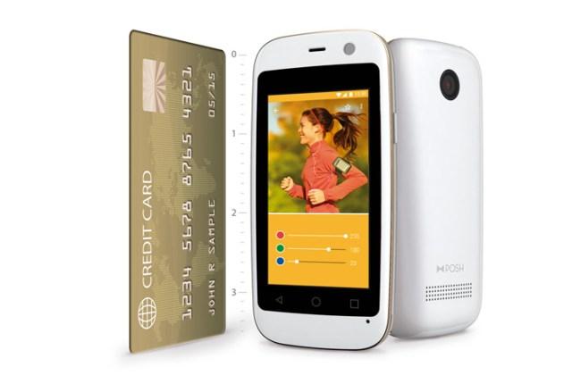 Das kleineste Smartphone der Welt ist gerade mal so groß wie eine Scheckkarte (Foto: Posh Mobile)