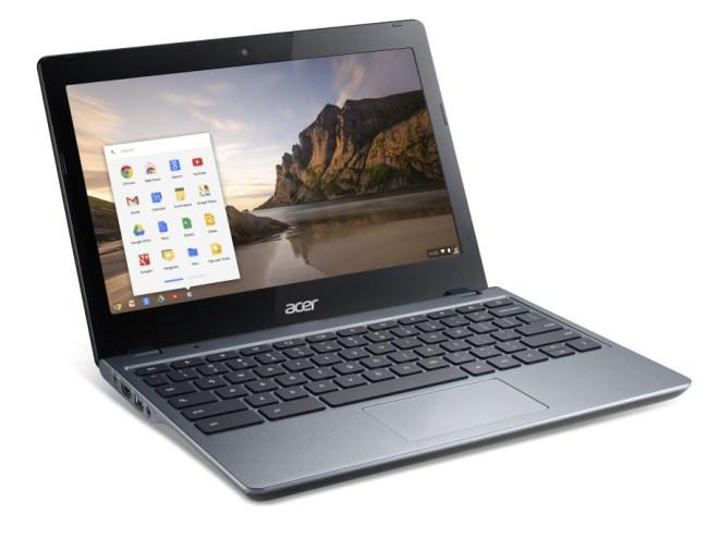 Chromebooks – also Notebooks mit dem Betriebssystem Chrome OS – sind die Vorreiter, wenn es darum geht, Android-Apps auf PCs zu benutzen. (Foto: Acer)