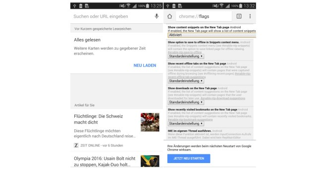 Google Now fuer Chrome
