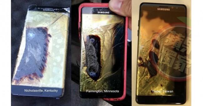 Galaxy Note 7 Brände