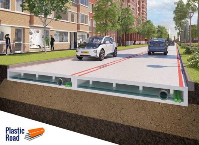 Straßenbelag aus Kunststoff hat viele Vorteile (Foto: VolkerWessels)
