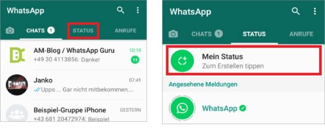 Whatsapp Die Neue Status Funktion Schritt Für Schritt