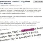 UPDATE: LG gibt Details zum Gingerbread-Update bekannt!