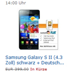 Amazon Blitzangebot: Samsung Galaxy S2 vergünstigt