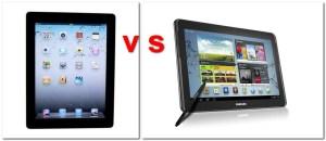 iPad 3 vs Samsung Galaxy Note 10.1 (BQ: Samsung, handytestberichte.com)