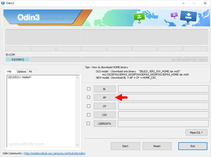 Add PDA Odin 3.07 for Samsung Galaxy A5 SM-A510M