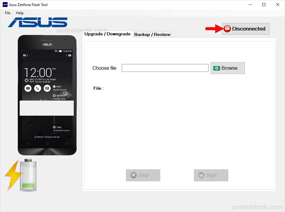 asus zenphone flash tool connect